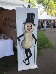 AN Mr. Peanut at Fine Arts Fiesta