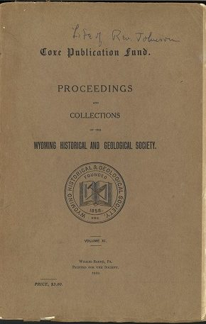 WHGS Proceedings Vol XI 1910