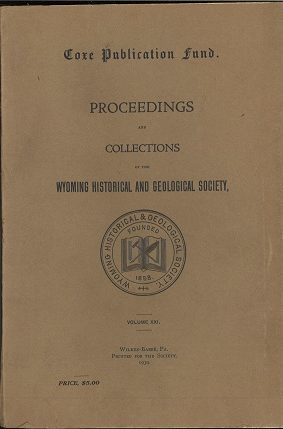 WHGS Proceedings Vol XXI 1930