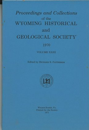 WHGS Proceedings Vol XXIII 1970