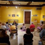 One of our monthly Mindfulness Meditation sessions at the Museum.